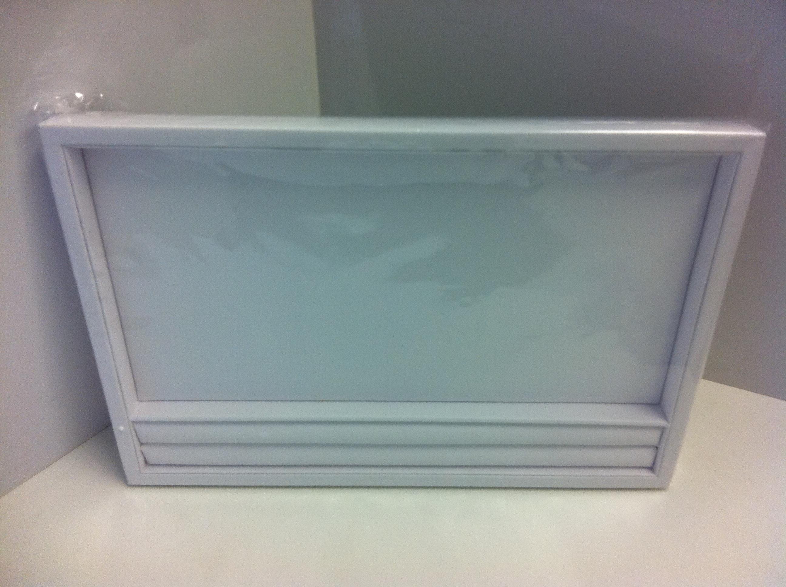 White Leatherette Slot Layout Tray