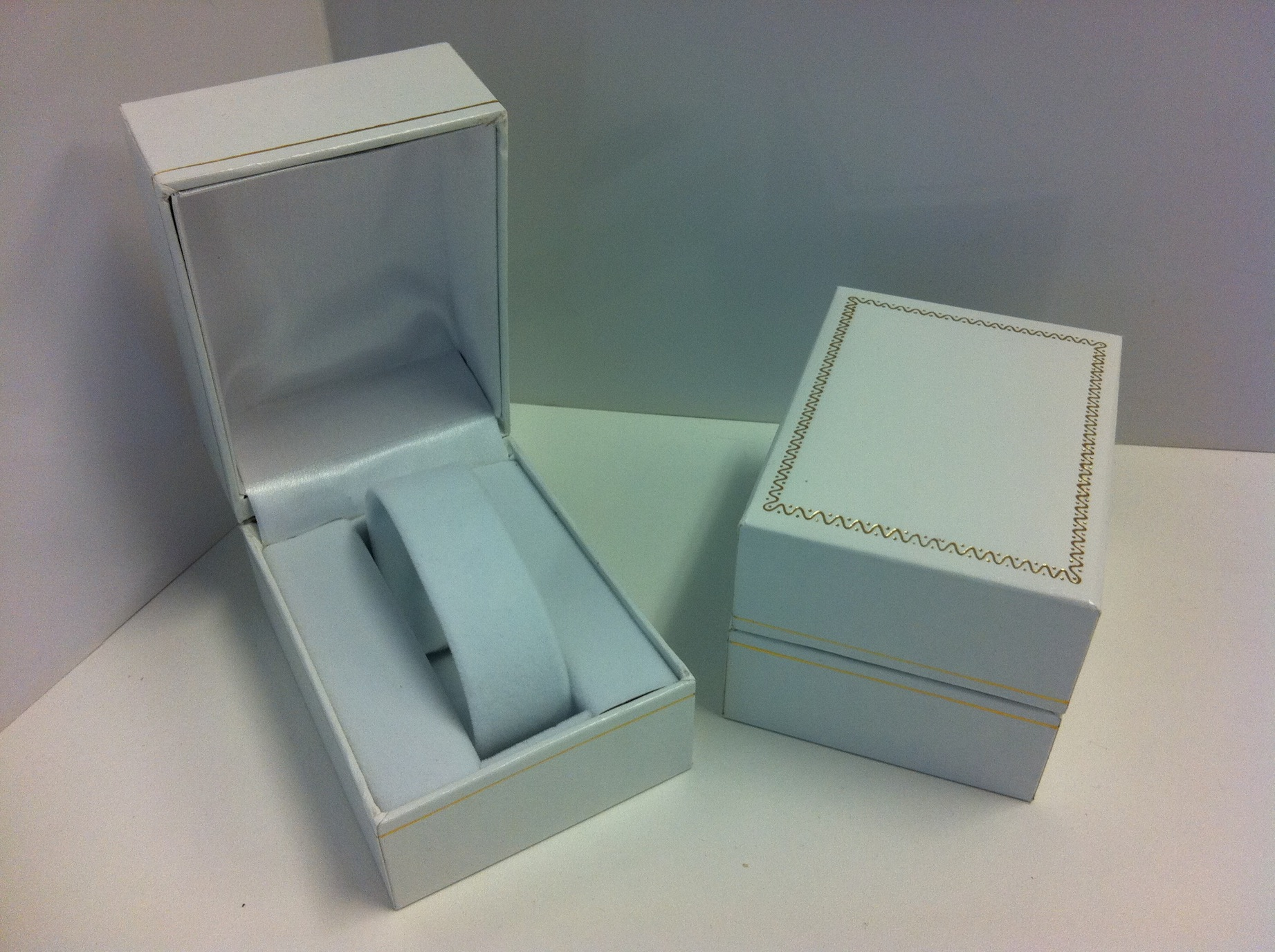 Watch Box (white with gold trim)