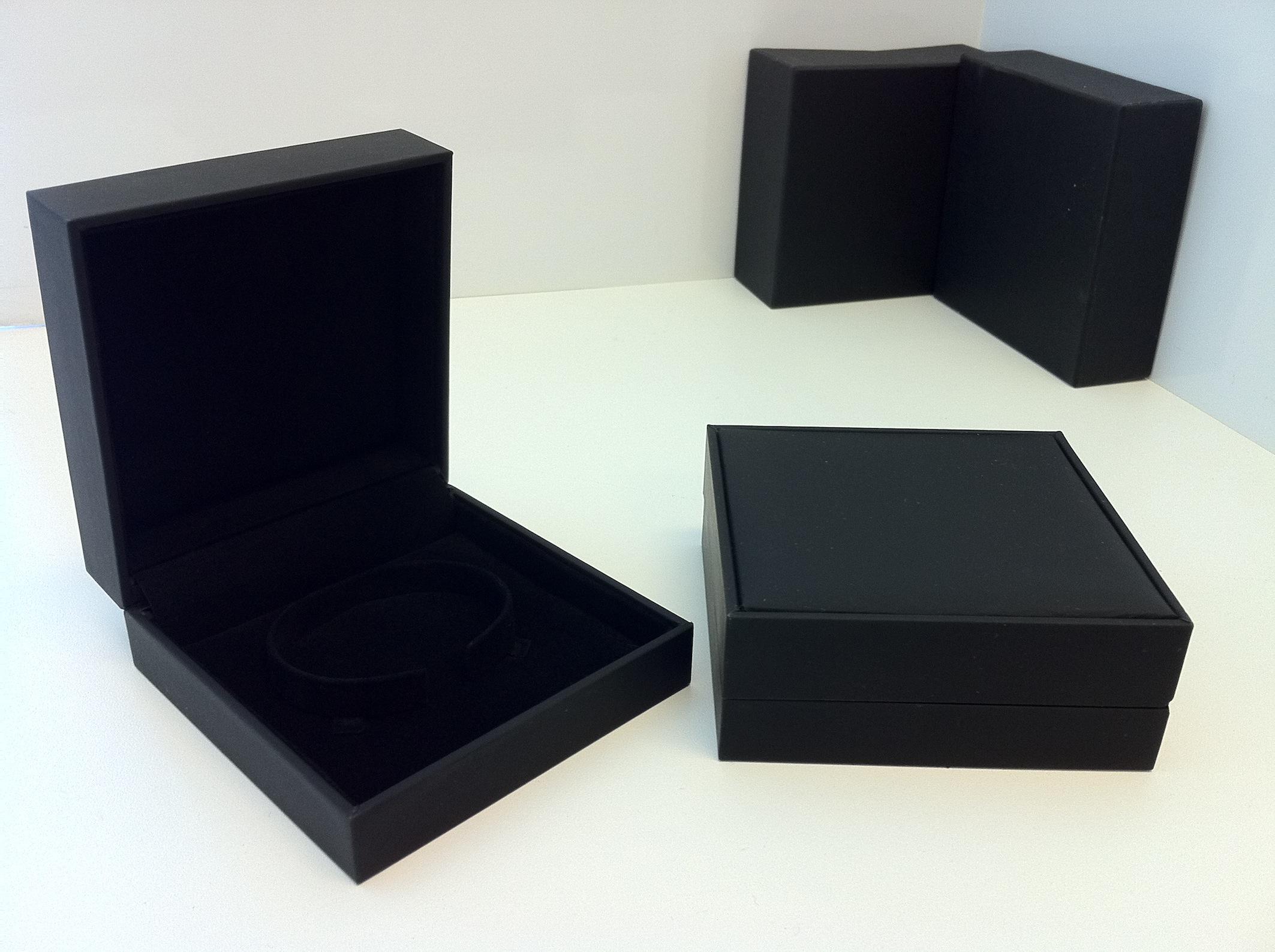 Black Suede Bangle Box