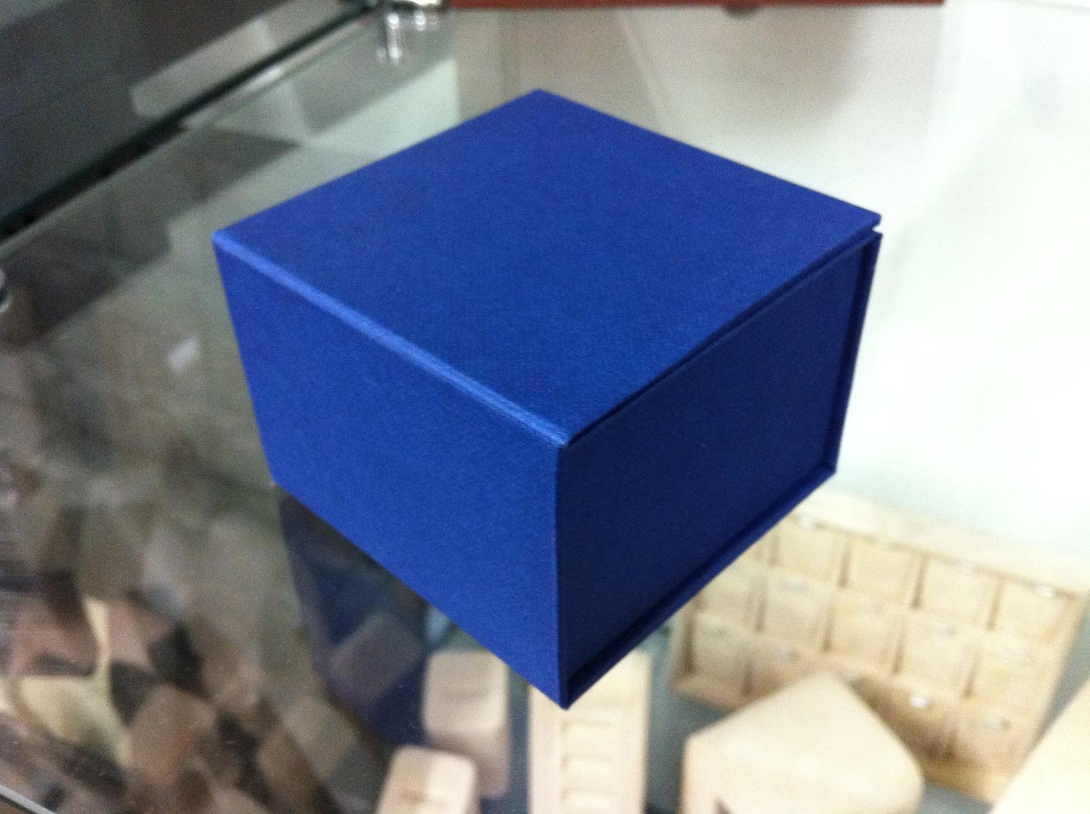 Bi-Fold Cufflink Box (Blue)