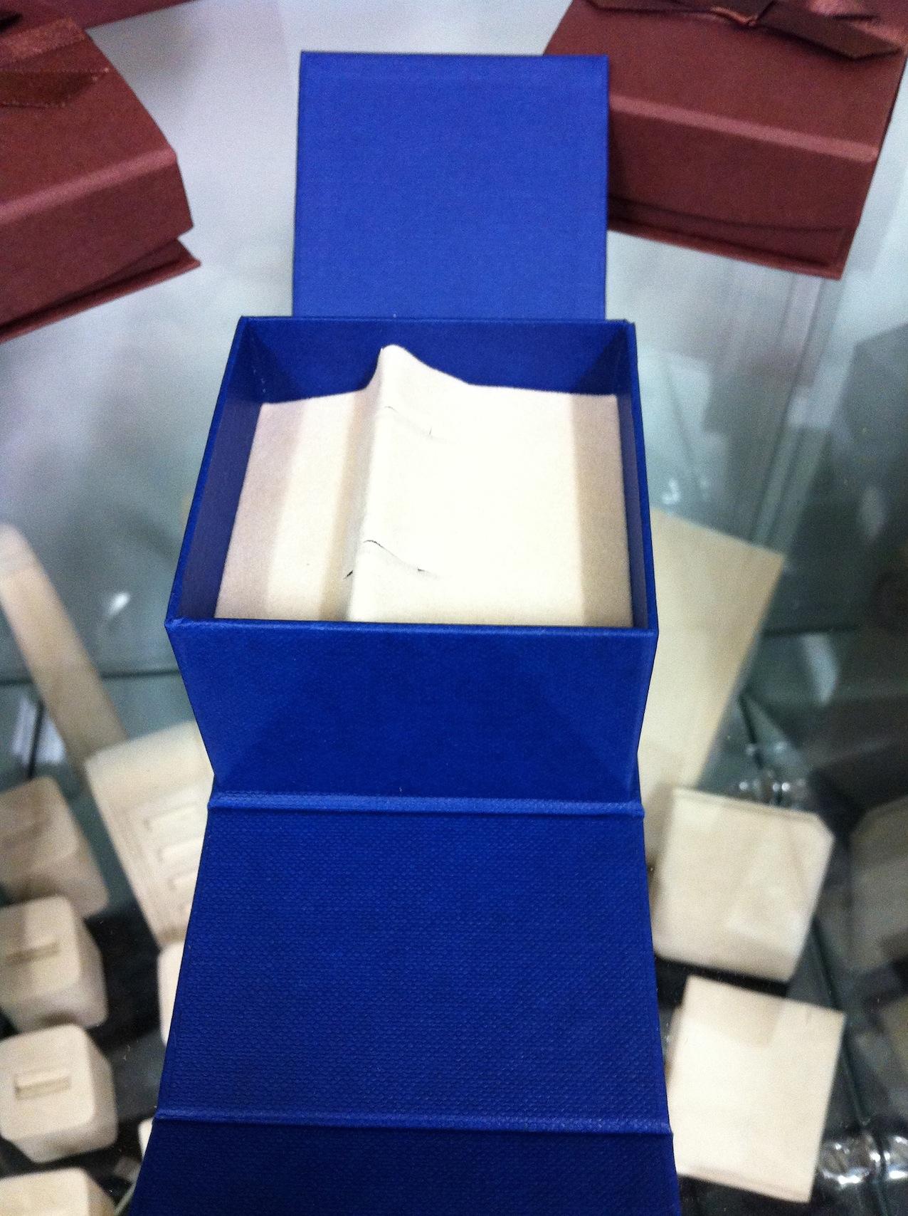 Tri-Fold Cufflink Box (Blue)