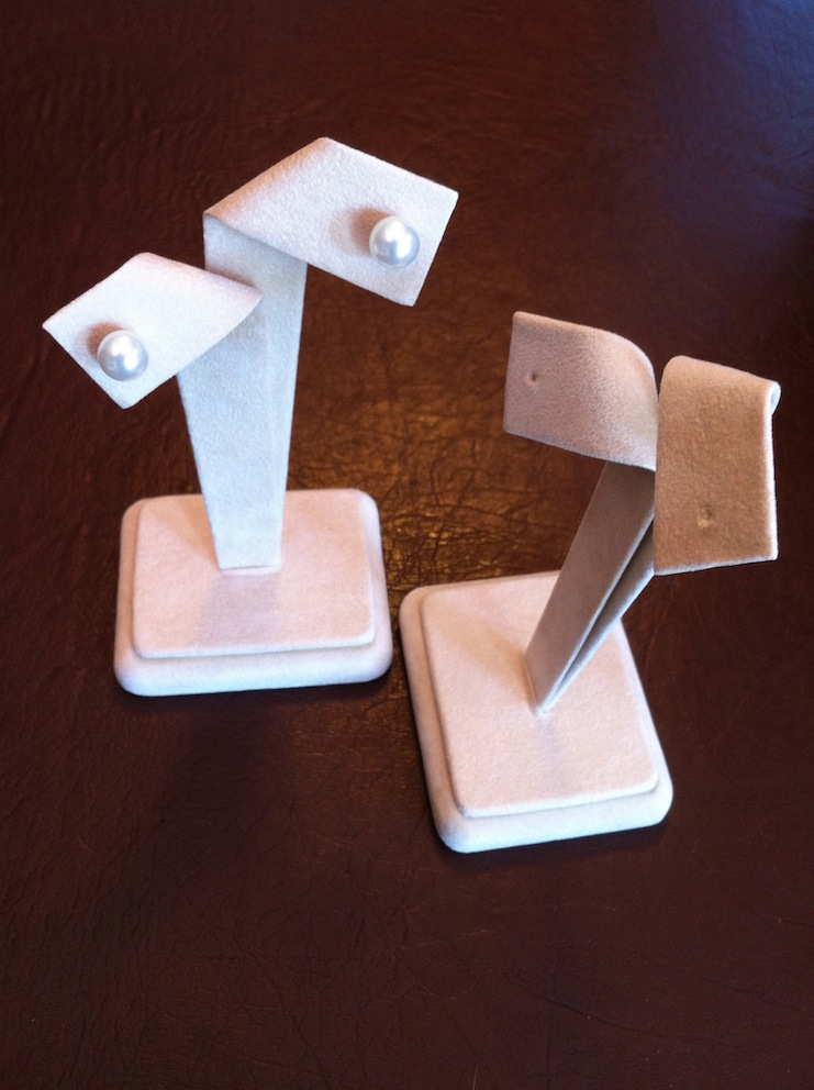 Camel Suede Bow Earring Stand