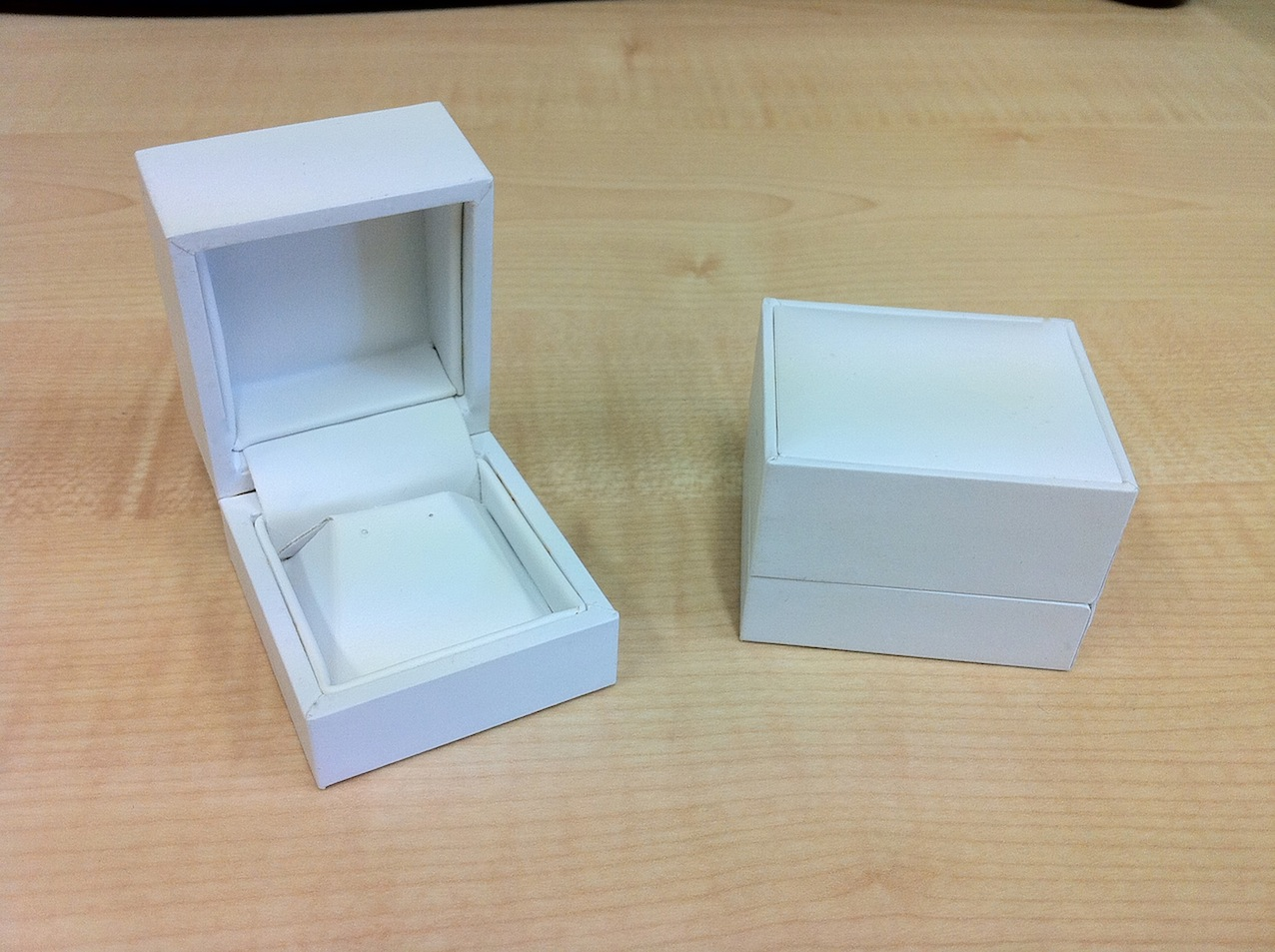 White Earring Box