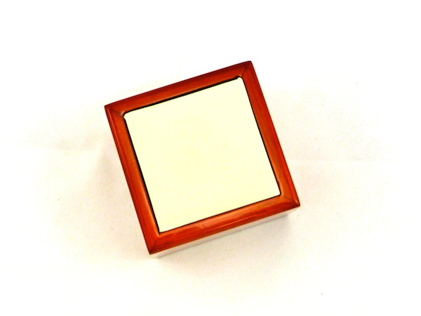 Maple Red Leatherette Ring Box