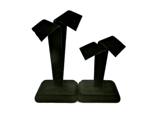 Black Suede Large Bow Earring Stand