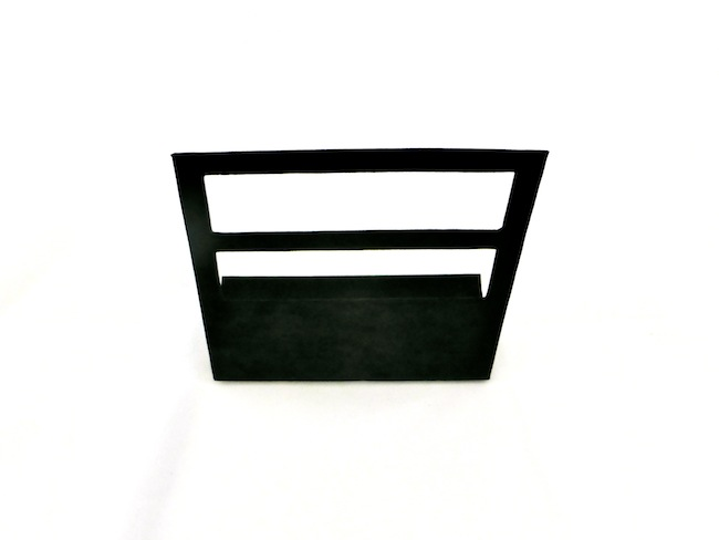 Black Suede Hoop Earring Stand - multiple