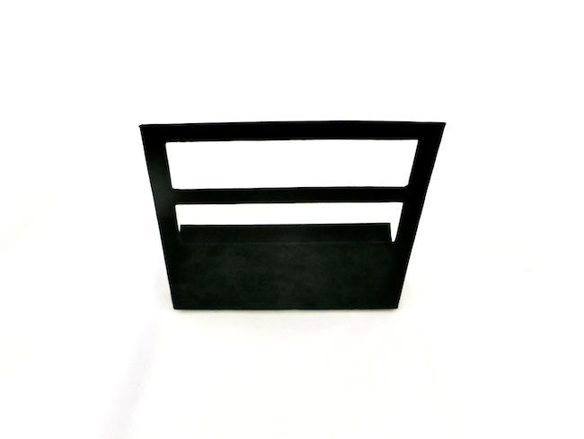 Black Suede Hoop Earring Stand - multiple