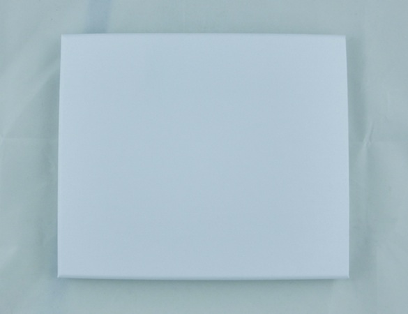 White Leatherette Medium Platform