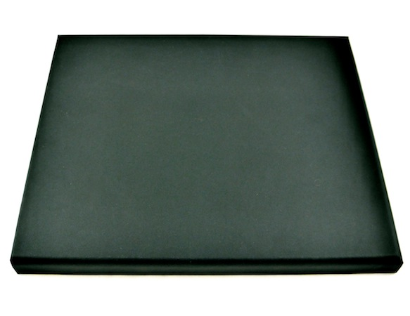 Black Suede Medium Platform - rectangle