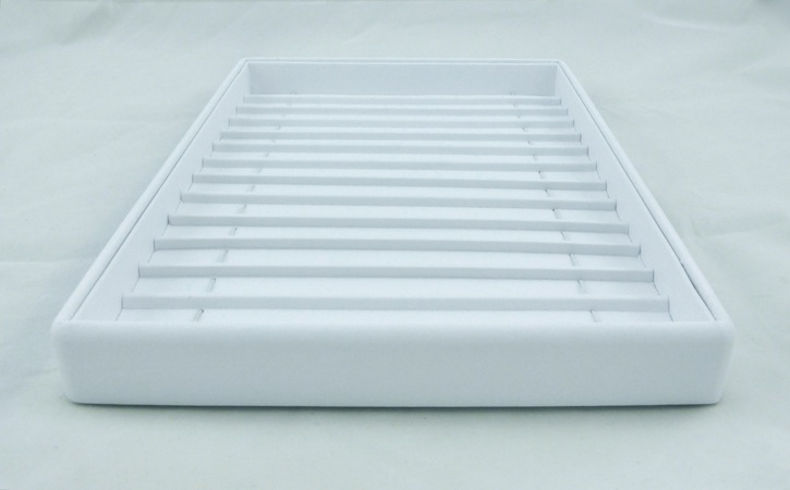 White Leatherette Bracelet tray with Dividers