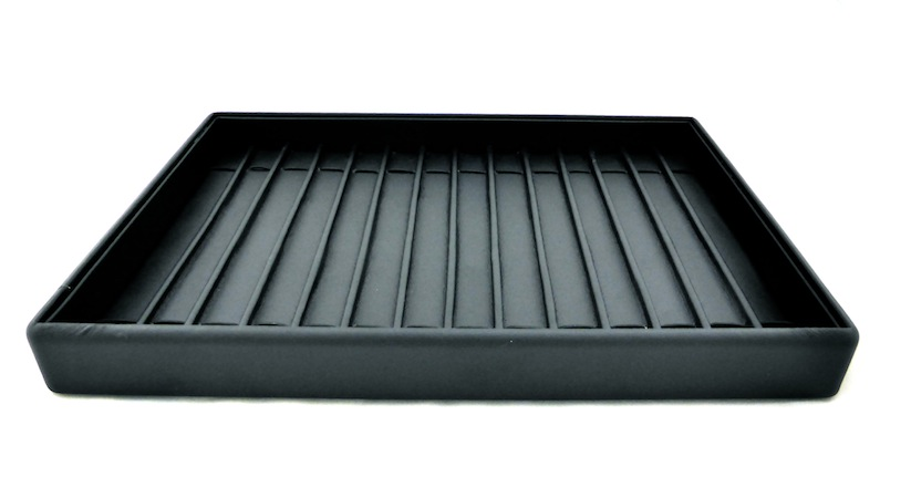 Black Leatherette Bracelet Tray with Dividers