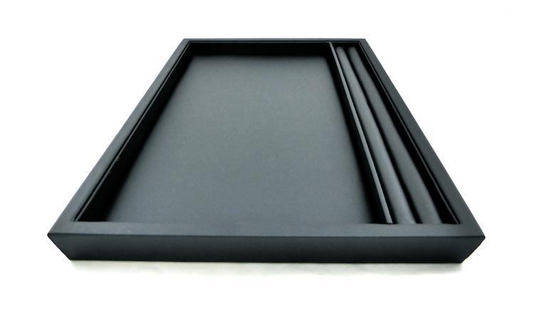 Black Leatherette Slot Layout Tray