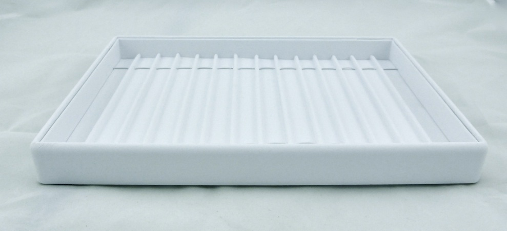 White Bracelet Tray with Dividers