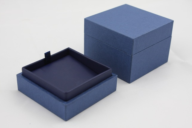 Blue Envy Earring/ Small Pendant Box