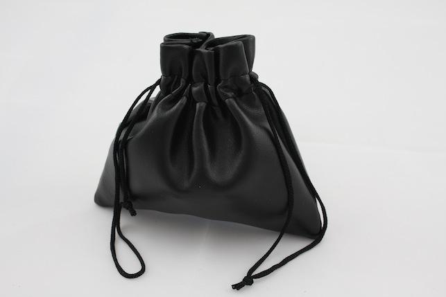 Black Leatherette Pouch (Large)