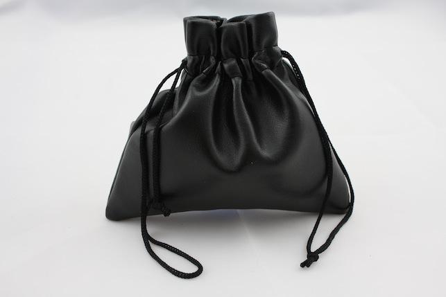 Black Leatherette Pouch