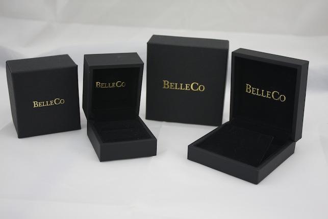 Gold Printed Black Pendant Box
