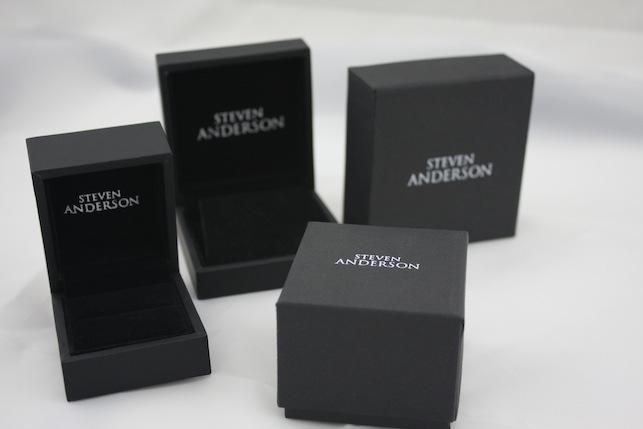 Printed Black Earring Box