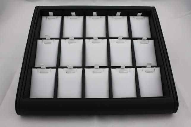Black Jewellery Tray with White Inserts