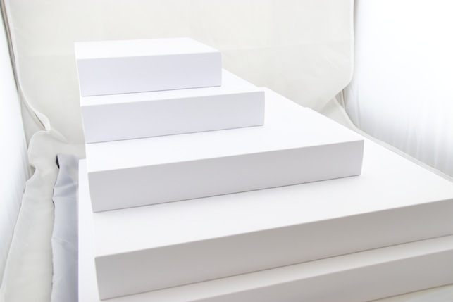 White Leatherette Jewellery Platforms