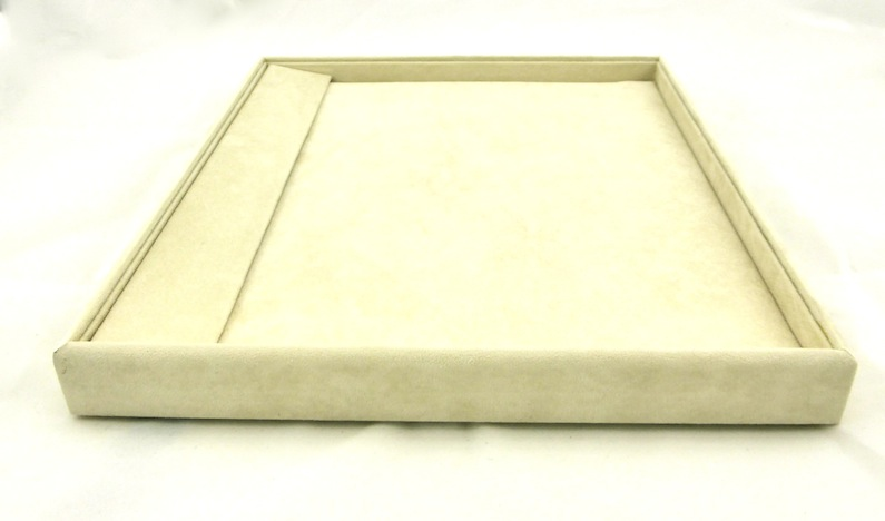 Beige Suede Bracelet Display tray