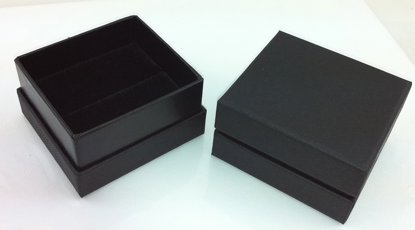 All Black Ring Box