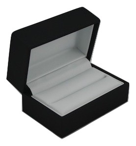 Pure Black/ Pure White Double Ring Box