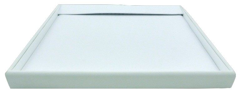 Chain Tray with Flap (White Leatherette)