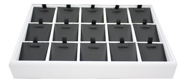 White Tray with black inserts