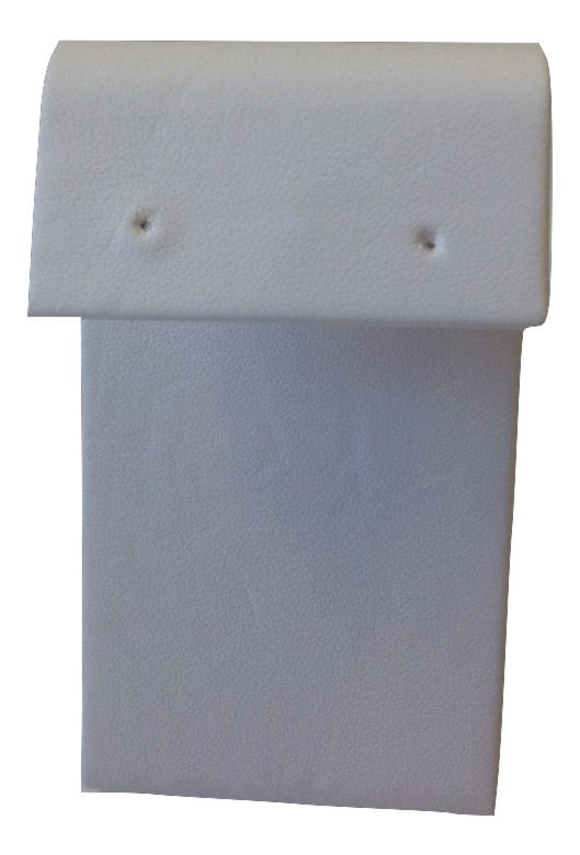 White Leatherette Earring Stand - large