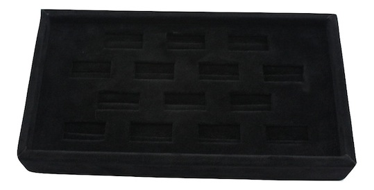 Black Suede Ring Tray