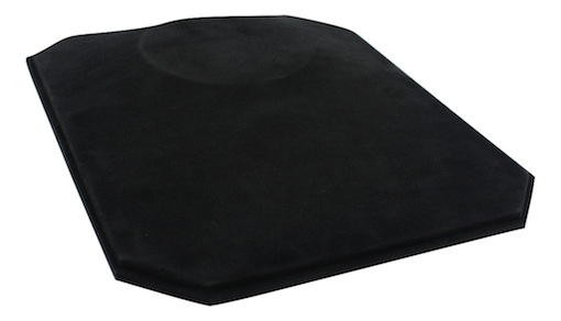 In-counter bust flat (black suede)
