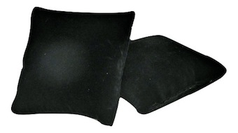 Small Black Suede Pillow