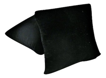 Black Suede Pillow
