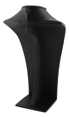 Black leatherette bust