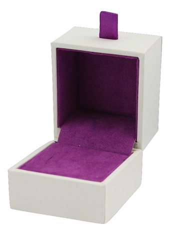 Purple Suede Ring Box