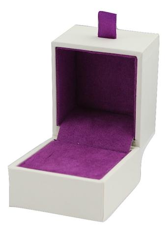 Royal Purple Velvet Ring Box