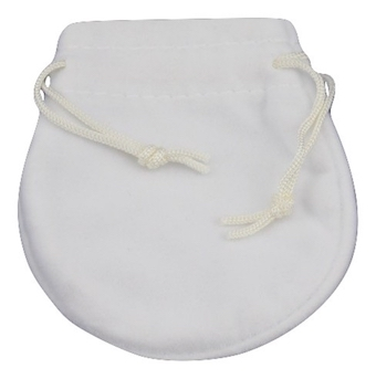 Coin Shape Pouch (White)