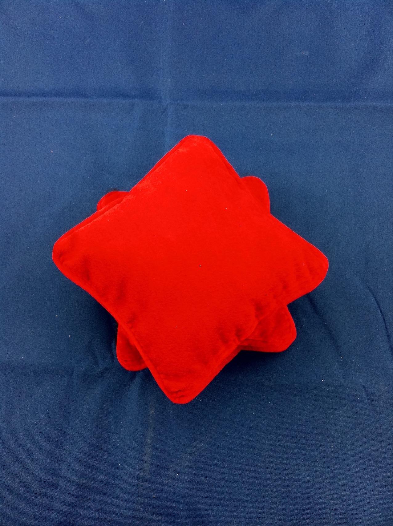 Red Velvet Jewellery Pillow