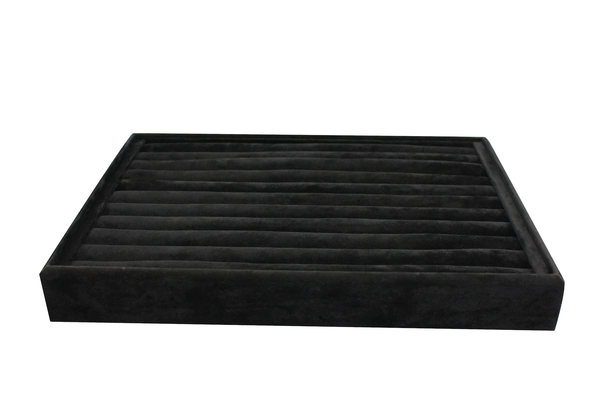 Black Suede Roll Ring Tray