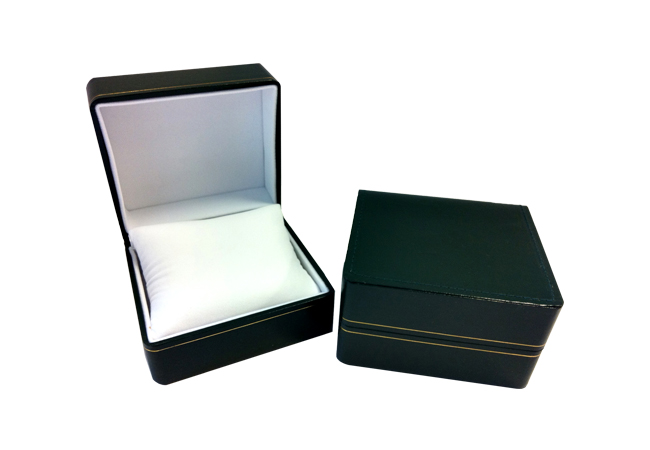 Watch Box (green with pillow)
