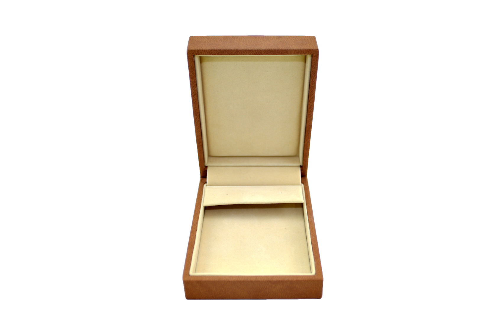 Brown Suede Pendant box with Huggy Earring Insert