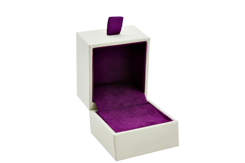 Purple Velvet Ring Box