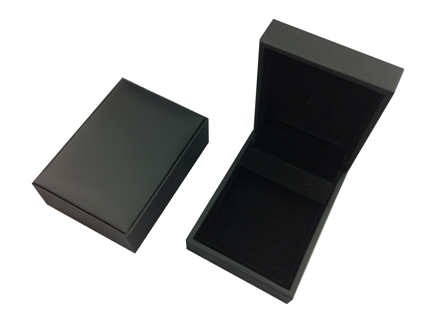 Black Suede Huggy Earring Box