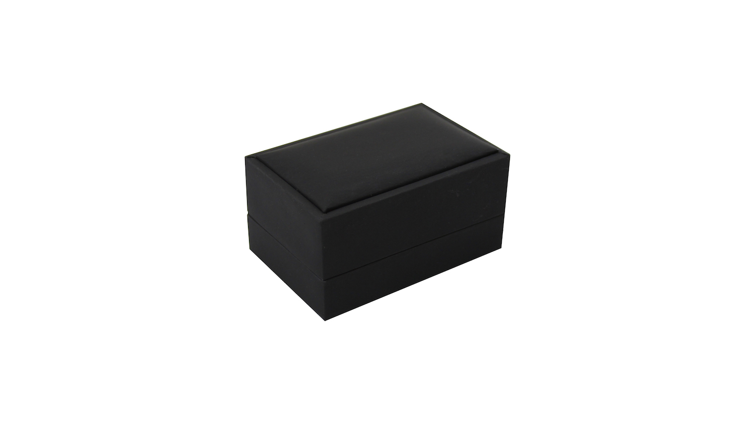 Black Suede Double Ring Box
