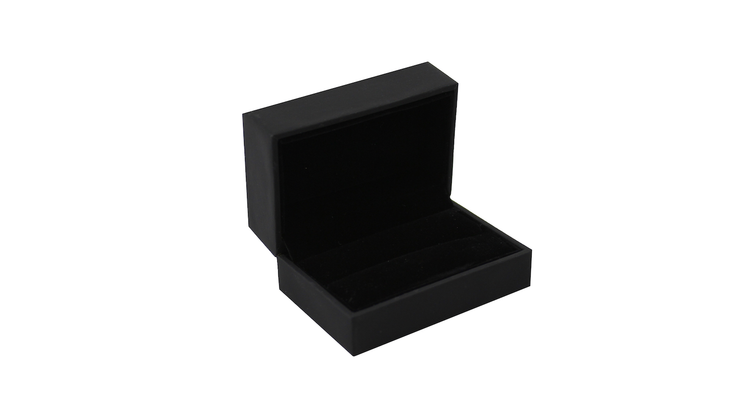 Black Suede Double Ring/Cufflinks Box (Small)