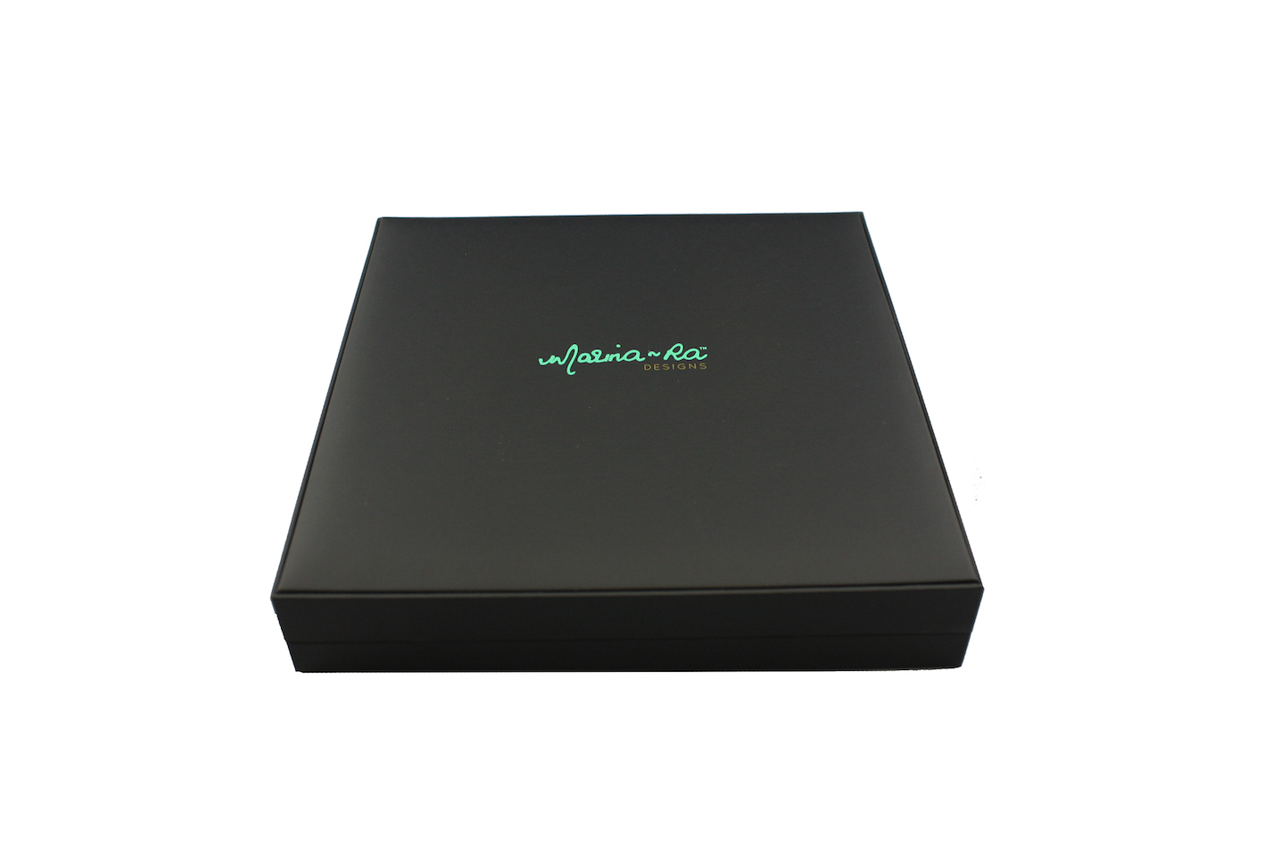 Printed Black Suede Necklace box