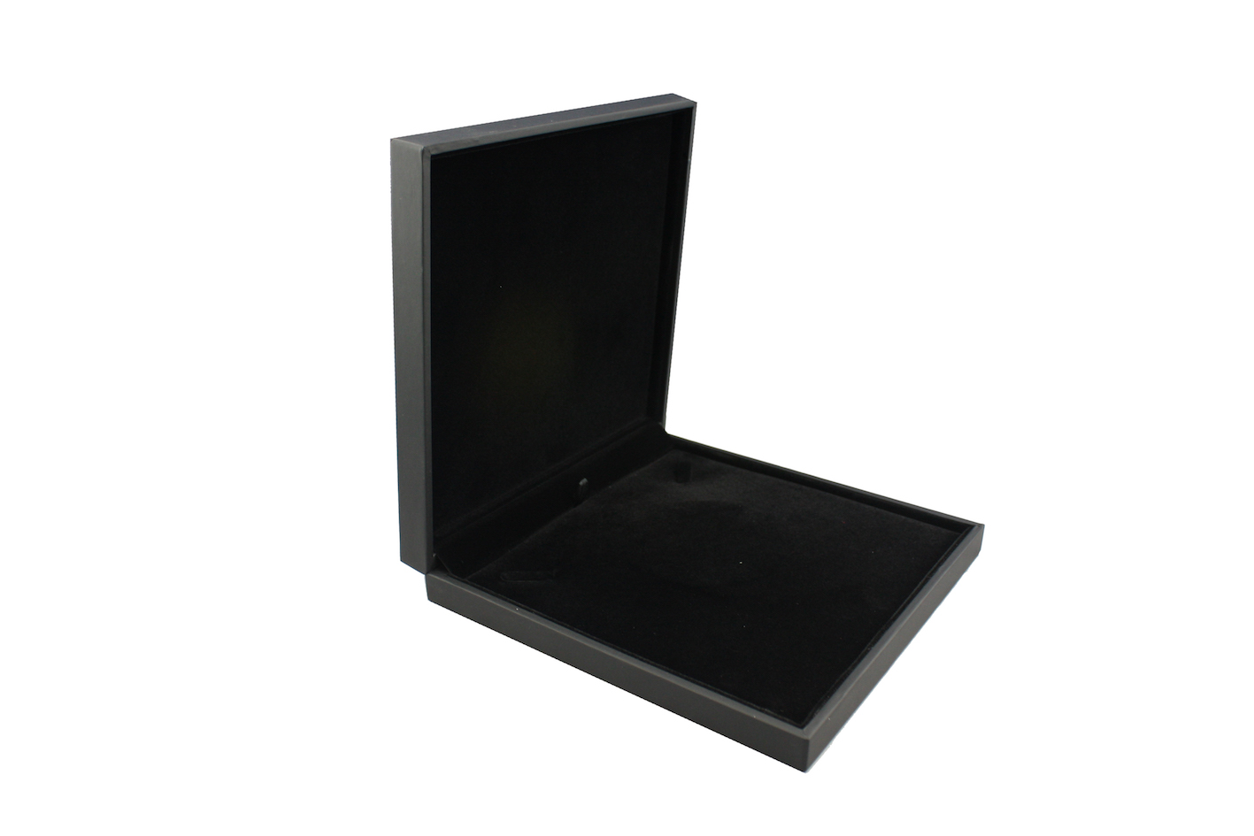 Black Suede Large Necklace Box