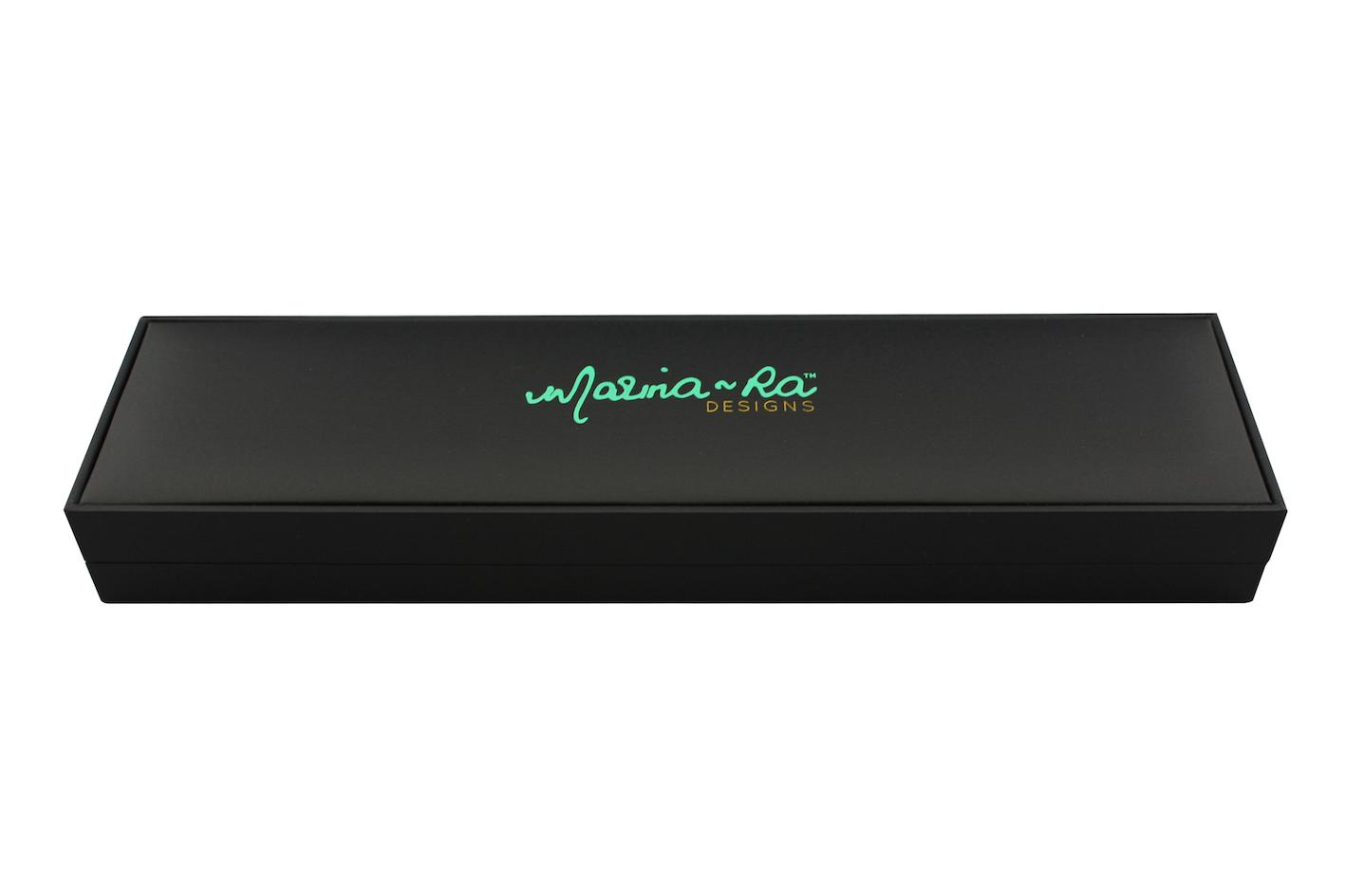 Printed Black Suede Bracelet box