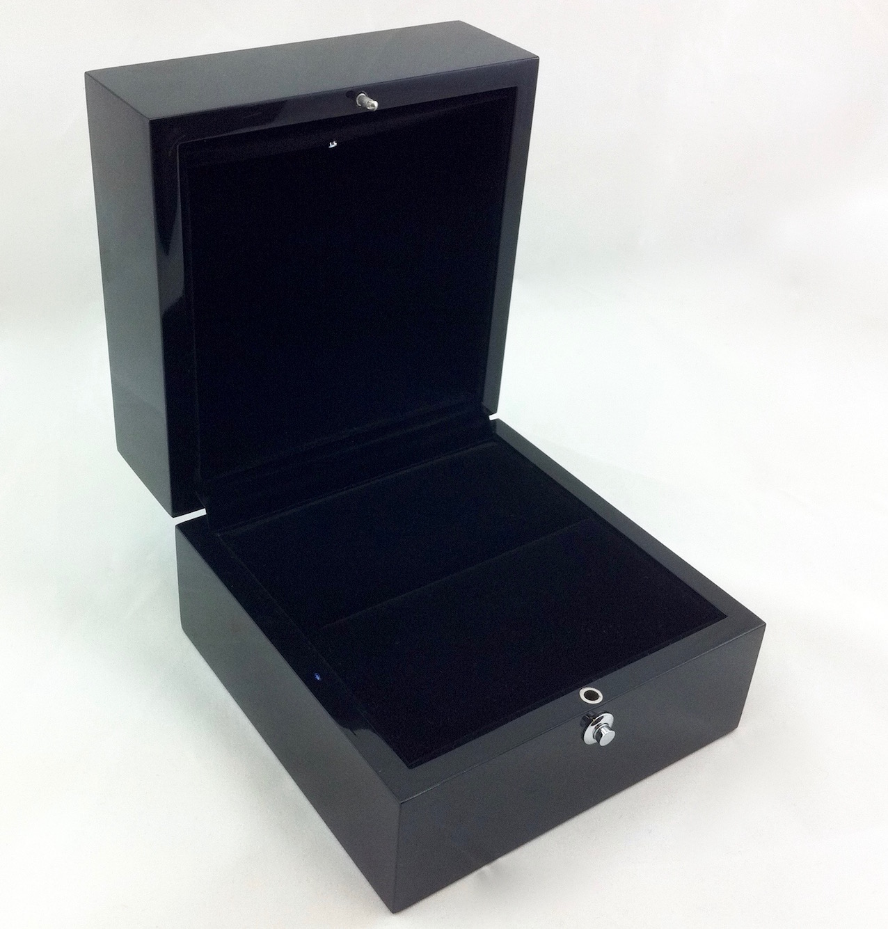 Matte black extra large ring box